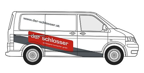 """Beschriftung VW T5 """"Der Schlosser"""""""