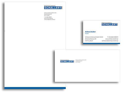 Corporate Design Schlosserei Andreas Schallert