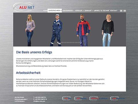 Website Alu-met GmbH