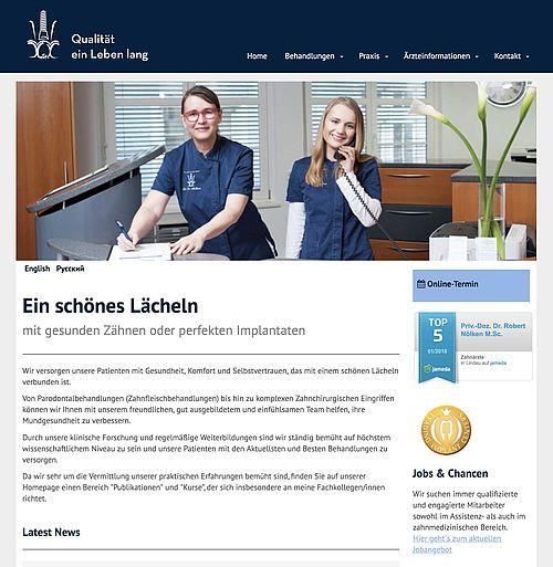 Neue Website Praxis Dr. Nölken