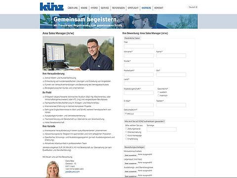Website Hans Künz GmbH