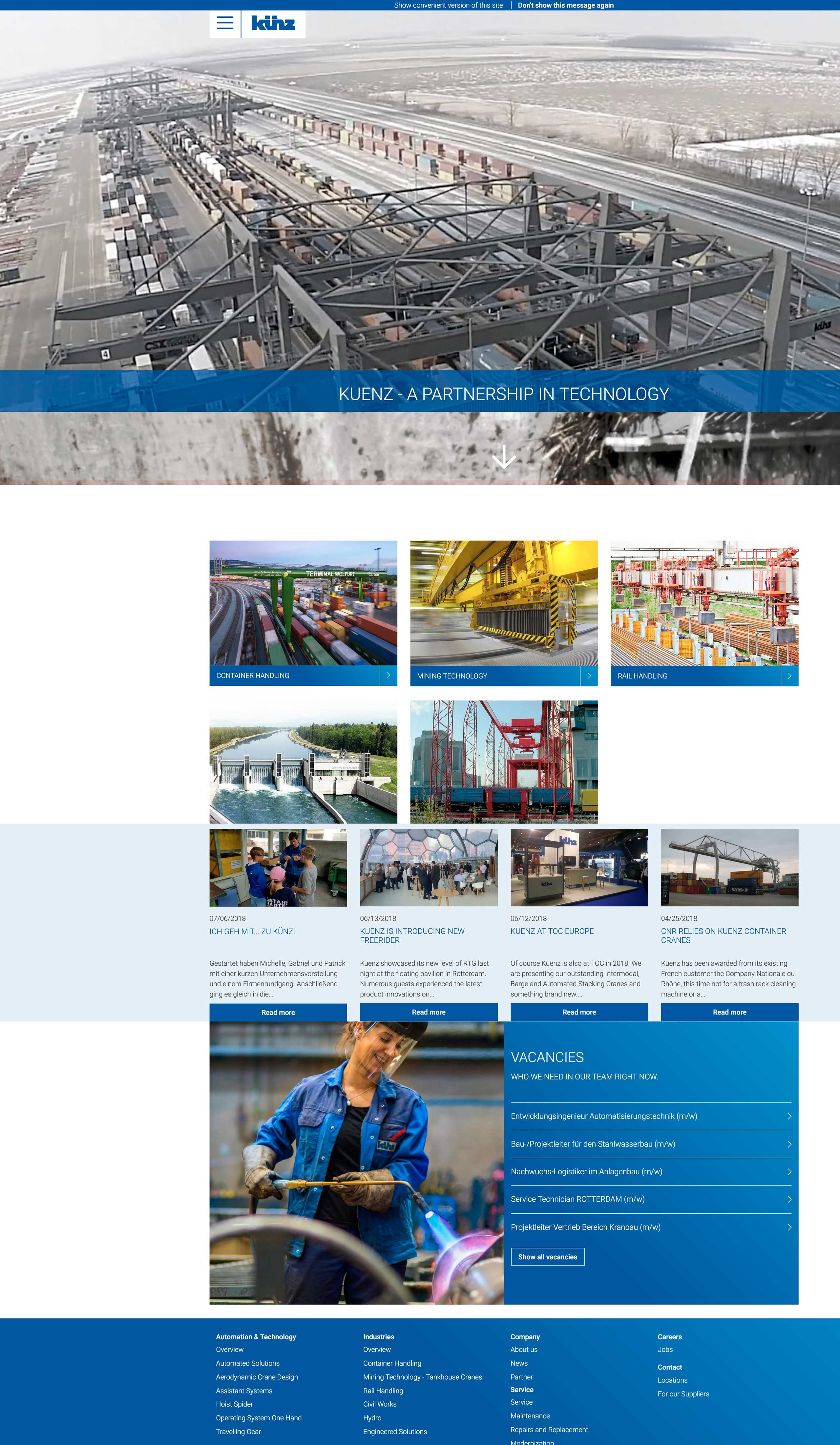 Website Künz by SCHARFSINN und SOLUTIX