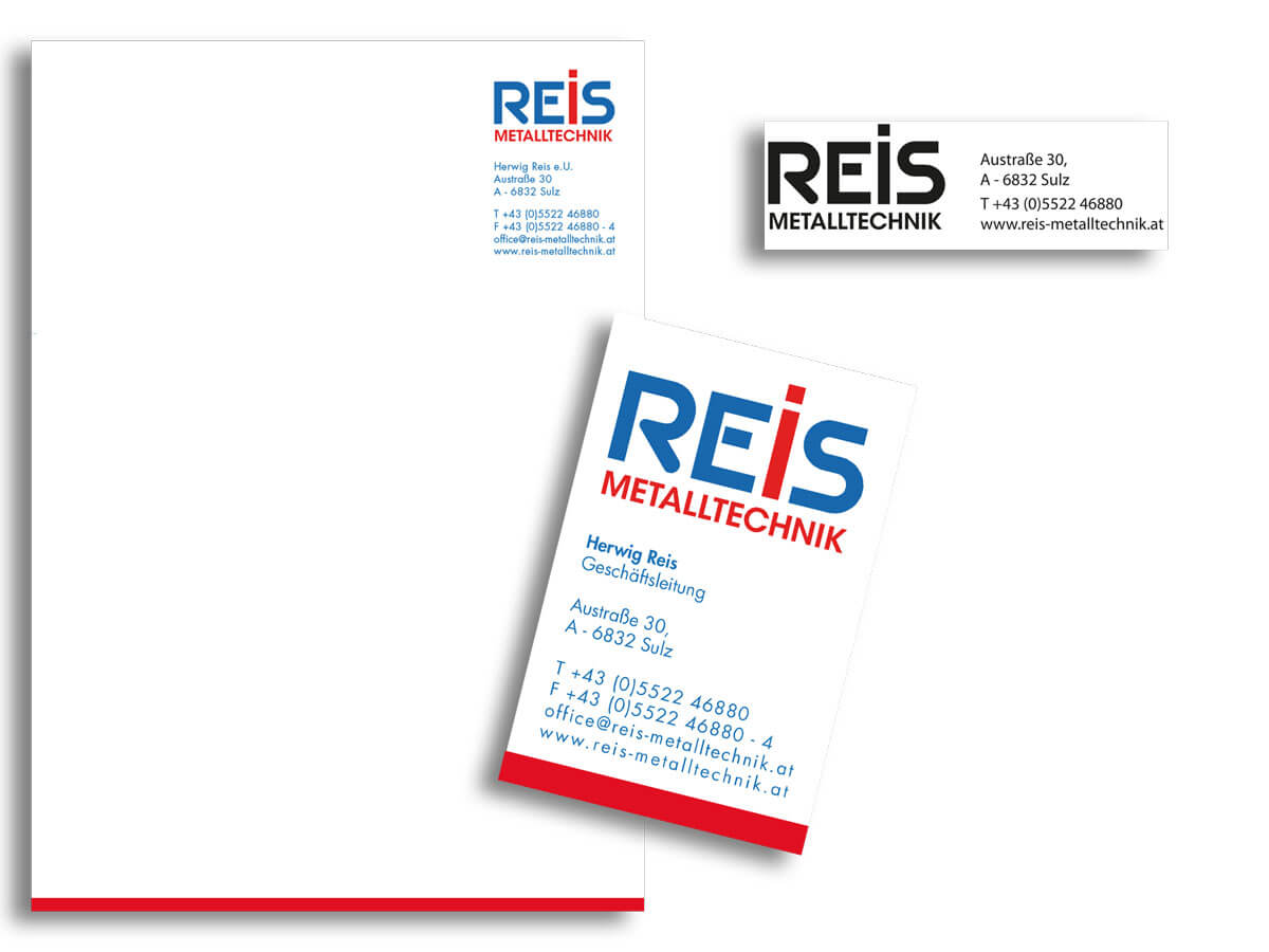Corporate Design Reis Metalltechnik