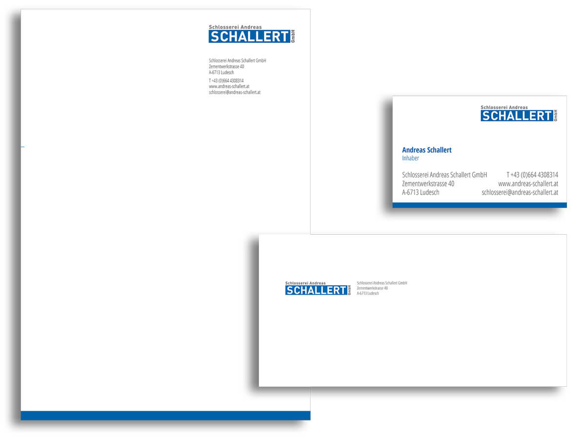Corporate Design Schlosserei Andreas Schallert