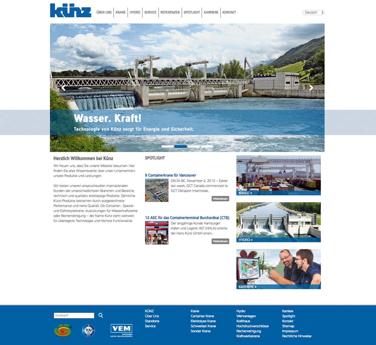 Hans Künz GmbH Update TYPO3