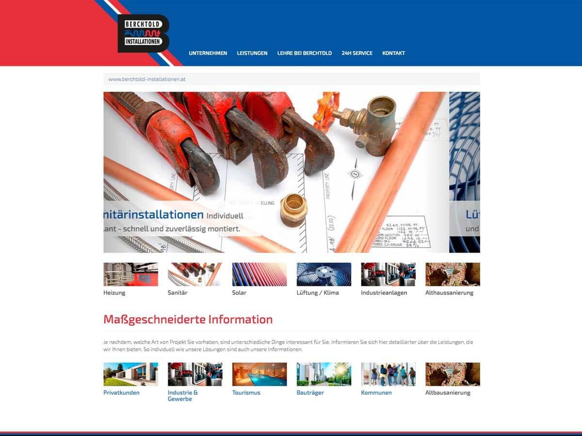 Website Berchtold Installationen